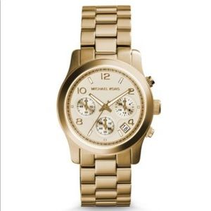 Michael Kors Runway Goldtone Bracelet Watch EUC